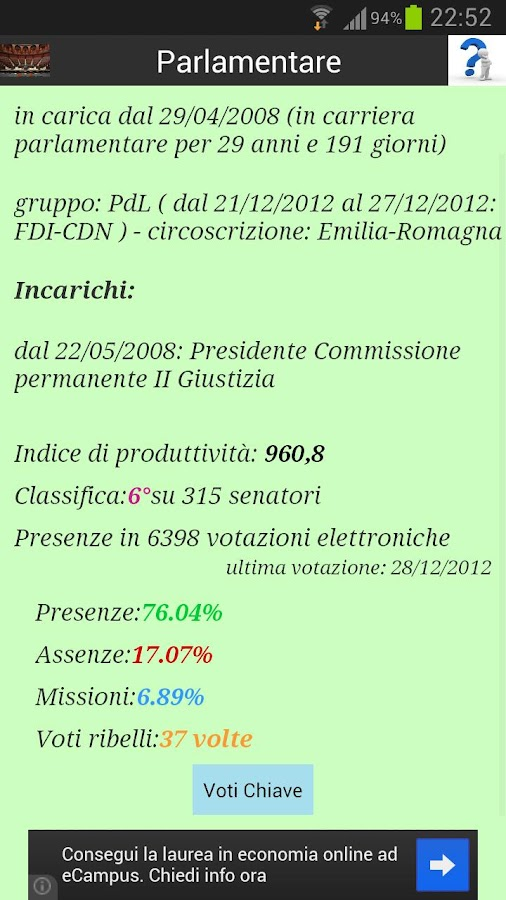 Parlamento Italiano - screenshot