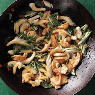 Stir-Fried Chicken with Bok Choy.