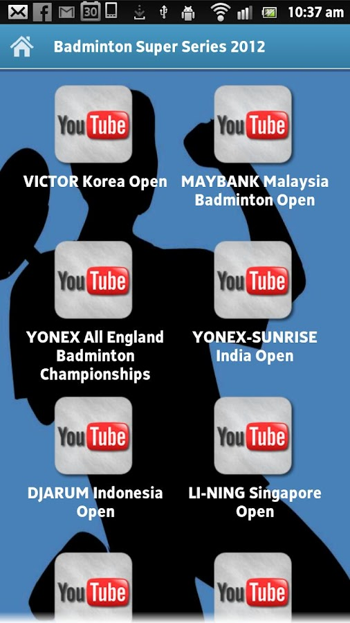 Badminton Super Series 2012 - screenshot