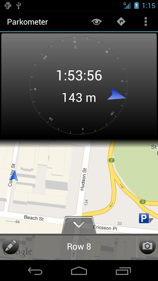 Parkometer AR- screenshot