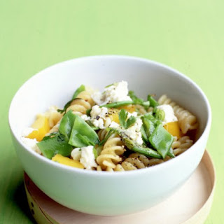Pasta Salad with Feta and Snow Peas