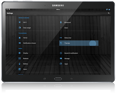 CM12 Theme  - Black Wood Blue v1.52