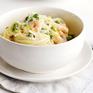 Lemony Prawn & Pea Pasta Recipe