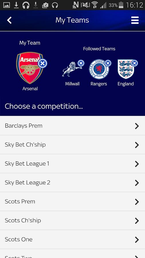 Sky Sports Live Football SC- screenshot