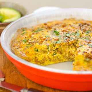 Chile and Sausage Oven Frittata