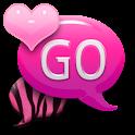 GO SMS THEME|PinkZebra2 logo