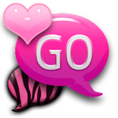 GO SMS - Pink Zebra 2