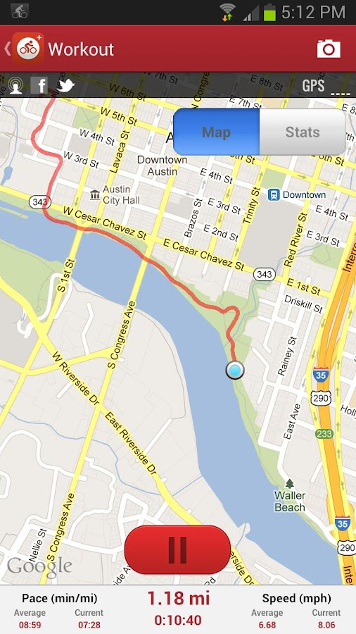 MapMyRide GPS Cycling Riding - screenshot