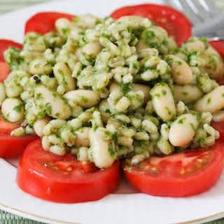 Barley and White Bean Salad with Parsley, Lemon, and Capers.