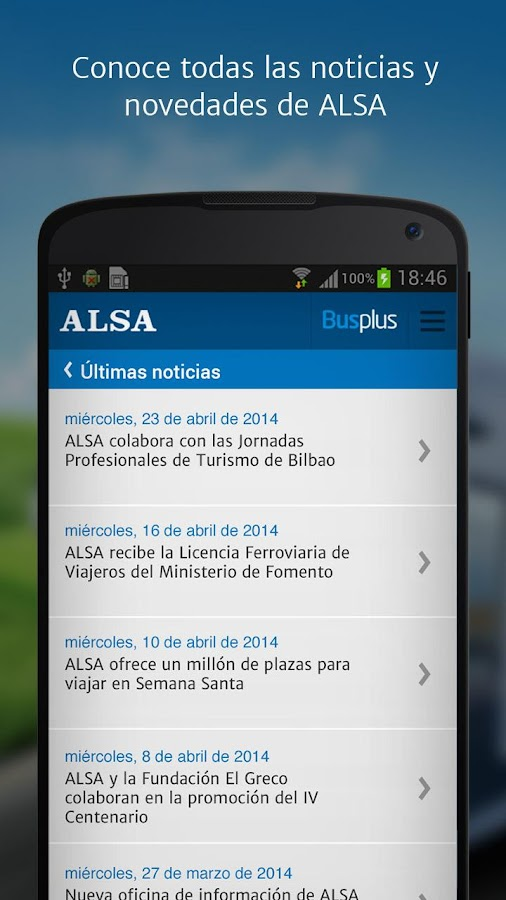ALSA: buy your bus tickets - screenshot