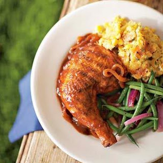 Grilled Chicken with Ancho Barbecue Sauce