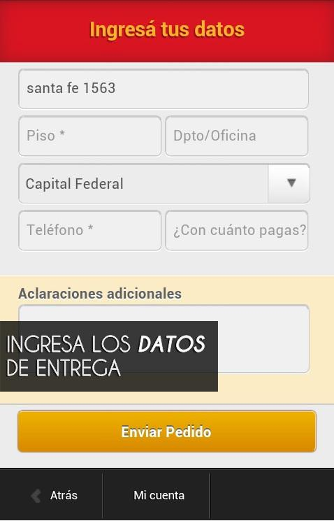 Delivery de Comida Sinimanes- screenshot