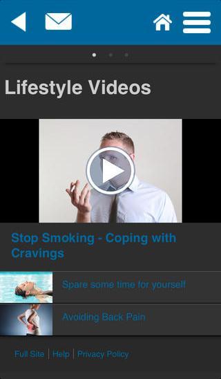 PMF Wellbeing Zone - screenshot