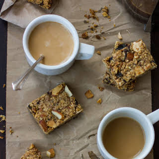 Gluten- and Dairy-Free Breakfast Bars with Apricots, Prunes and Almonds.