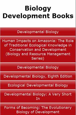 Biology Development Books