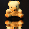 Teddy Bear Reflecting In Water