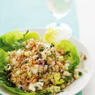 Bulgur Salad with Feta and Pine Nuts.