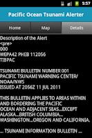 Screenshot of Pacific Ocean Tsunami Alerter