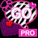 WB Pink Zebra Theme for GO SMS