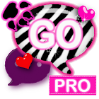 WB Pink Zebra Theme for GO SMS icon