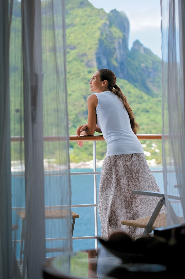 Room with a view: Nearly 70% of the suites and staterooms on the Gauguin feature a balcony.