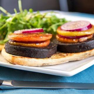 Black Pudding, Sautéed Apple, Red Onion And Rocket Ciabatta