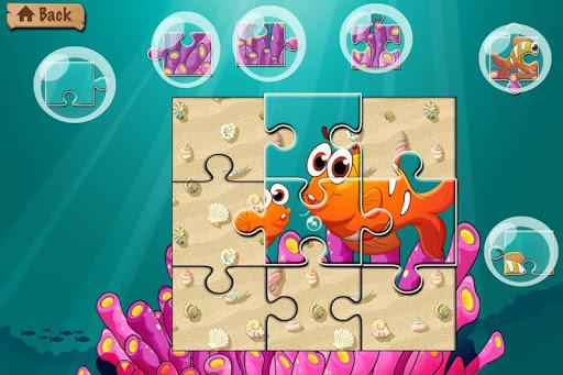 水下拼圖 - 海和海洋動物為孩子和幼兒