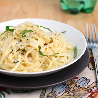 Linguine with Two-Cheese Sauce.