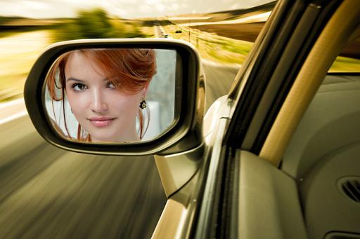 Car Mirror Photo Frames