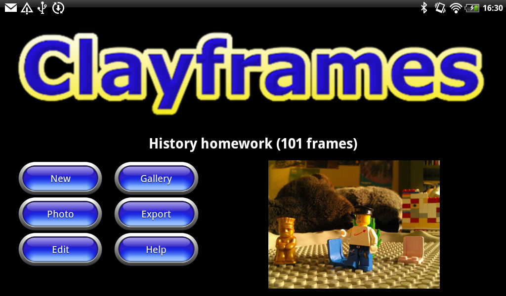 Clayframes - screenshot