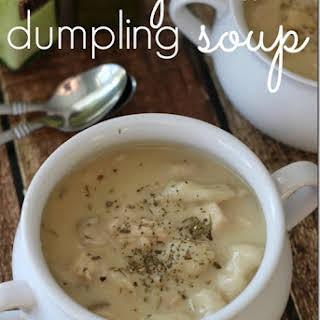 Slow Cooker {Creamy} Chicken Dumpling Soup.