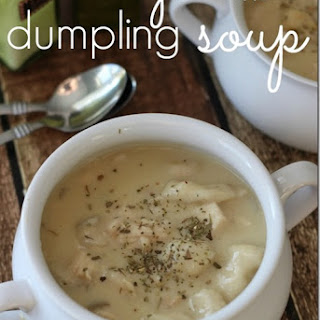 Slow Cooker {Creamy} Chicken Dumpling Soup.