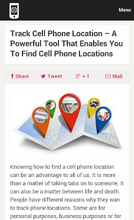 Cell Phone Tracker Tips 1.0 screenshot 9990
