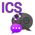 GO SMS THEME-Smooth ICS Purple icon