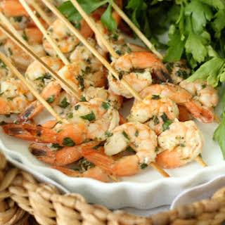 Lemon Basil Grilled Shrimp Skewers | Grilled Summer Appetizer.