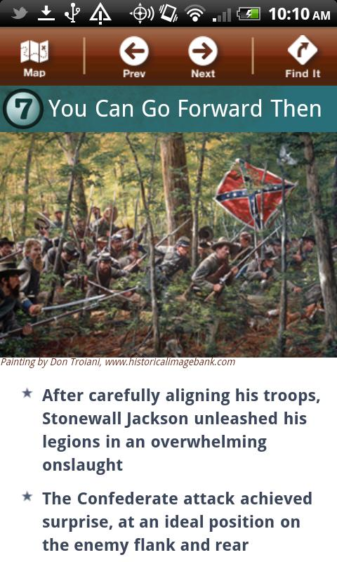 Chancellorsville Battle App- screenshot