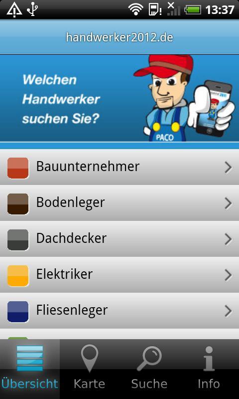 Handwerker App- screenshot