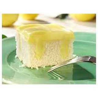 Lemon Pudding Poke Cake.