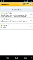 Screenshot of WEB.DE SMS mit Free Message