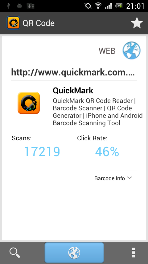 QuickMark QR Code Reader- screenshot