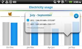 Screenshot of British Gas