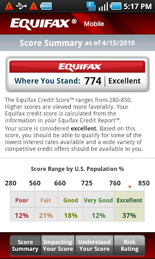 Equifax Mobile Screenshot