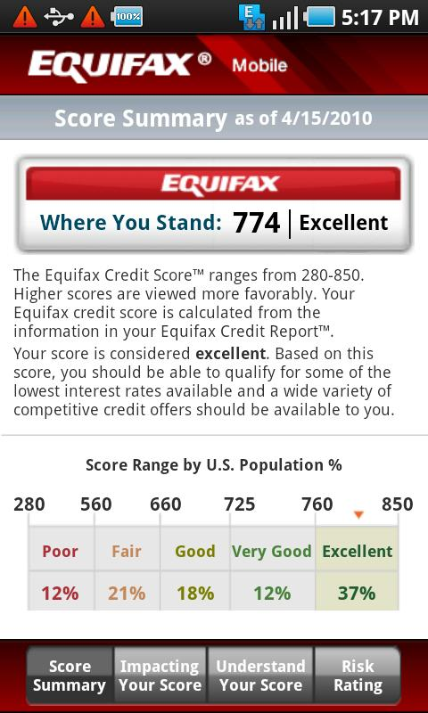 Equifax Mobile - screenshot