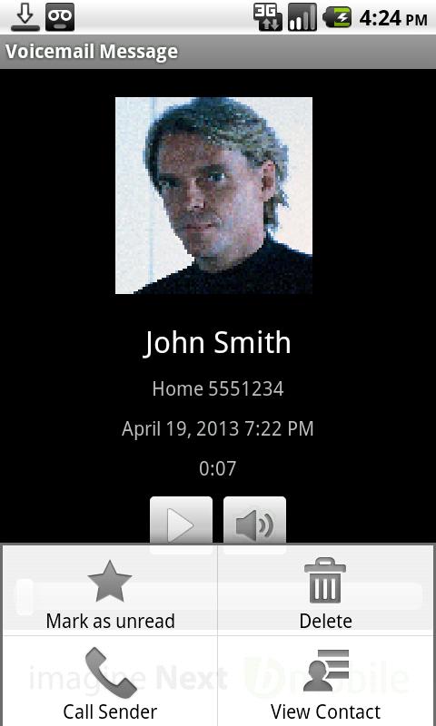 bmobile Visual Voicemail- screenshot
