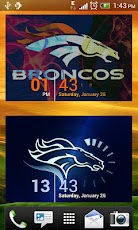Denver Broncos WP with Clock Android Personalization