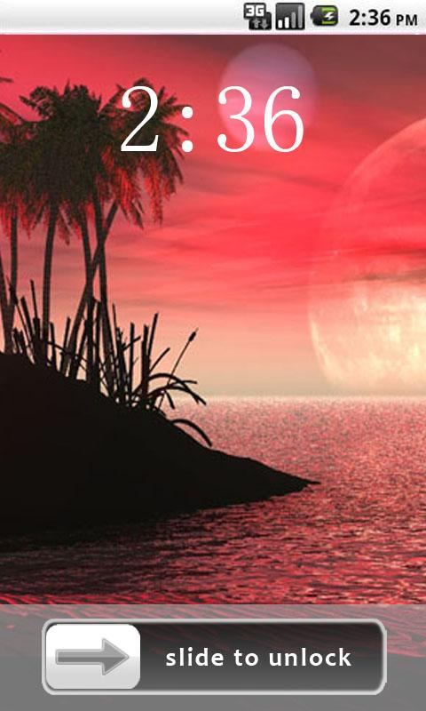 Beautiful Scenery Lock Screen - screenshot