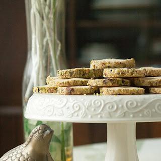Pistachio-Cardamom Icebox Cookies.