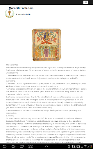 Maronite Faith Prayer