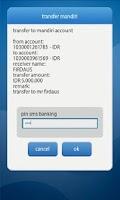 Screenshot of mandiri mobile