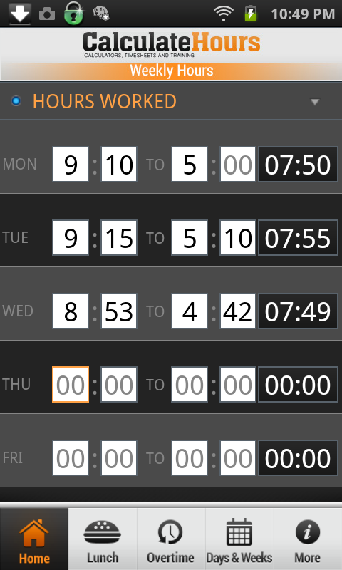 time card calculator timeclock android apps on google play